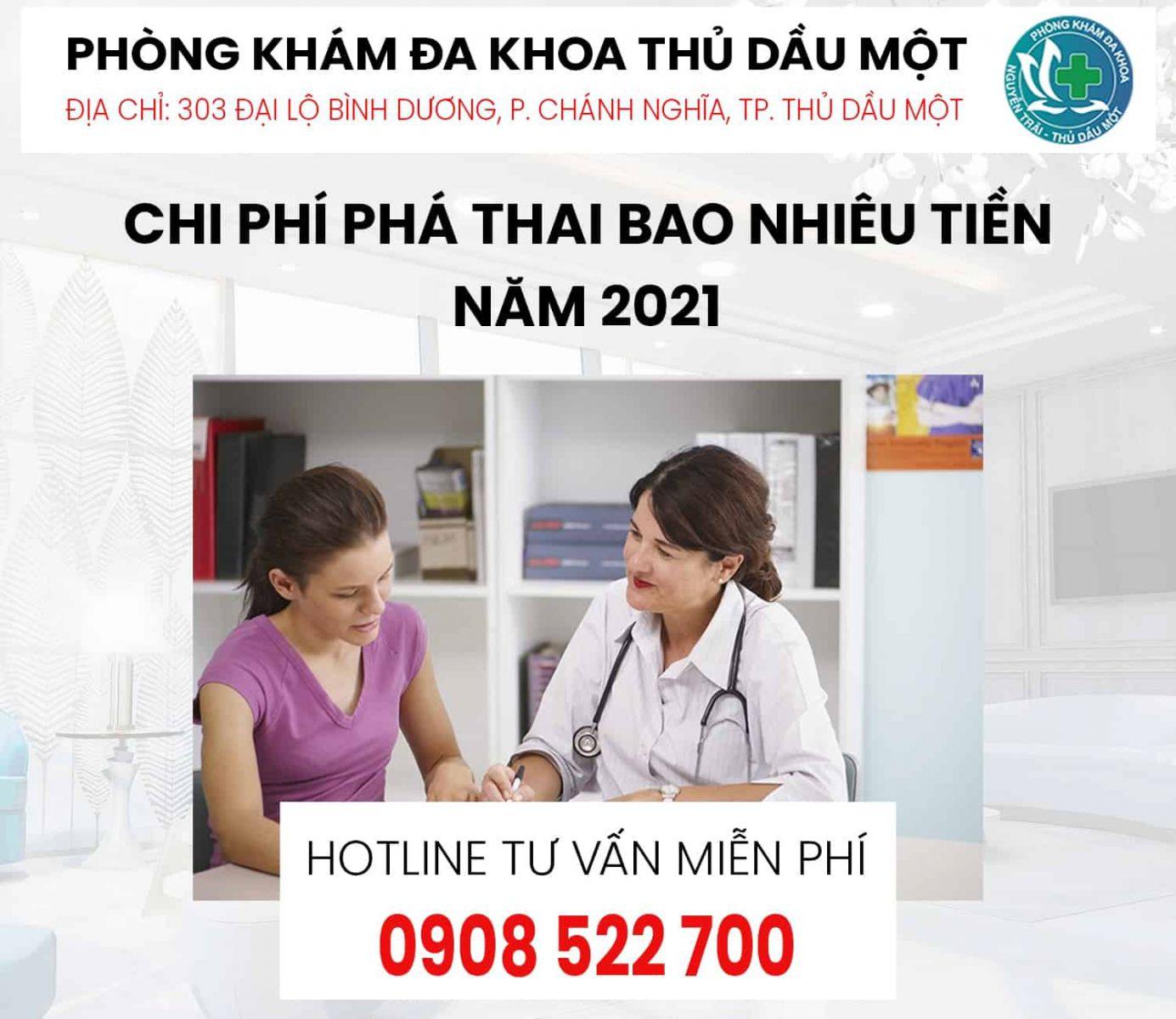 chi phí phá thai bằng thuốc năm 2021