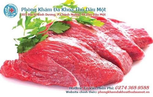 thịt bò chứa nhiều protein